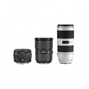 Kit Lentes Canon 24-70mm / 50mm / 70-200mm